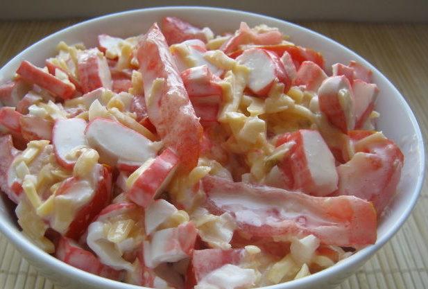 """Рецепт салата """"Красное море"""""""