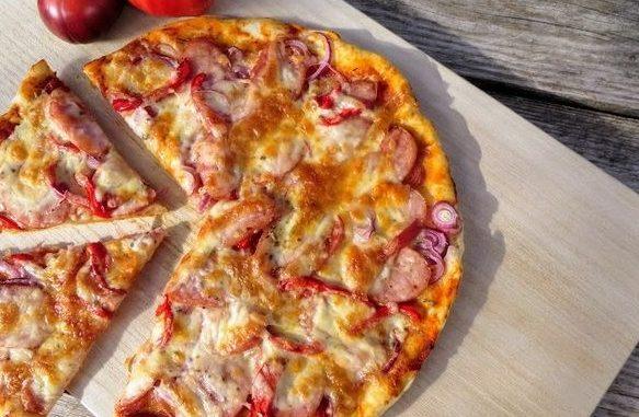 быстрая пицца из бездрожжевого теста