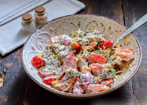 Салат самый вкусный рецепт с говядиной