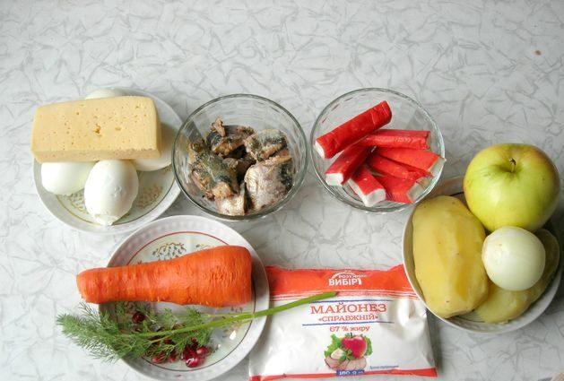Новогодний салат «Календарь»
