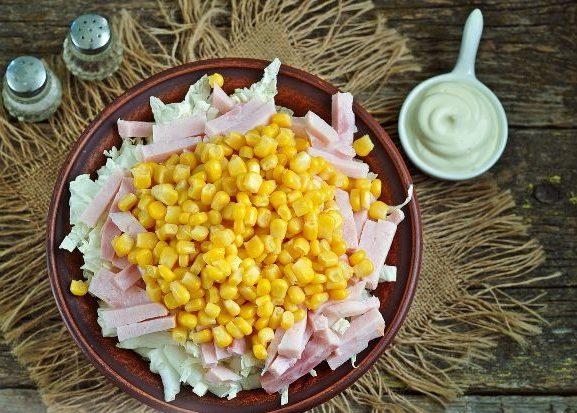 Рецепт салата с пекинской капустой