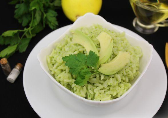 Рис с авокадо