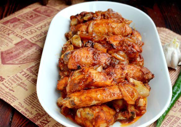 Запеченные куриные крылышки