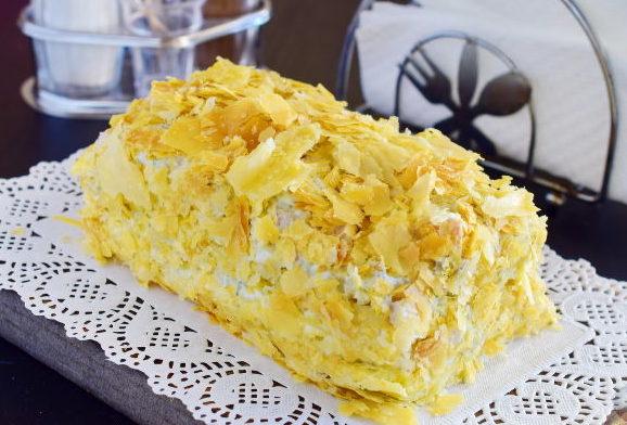 Закусочный Наполеон с сыром