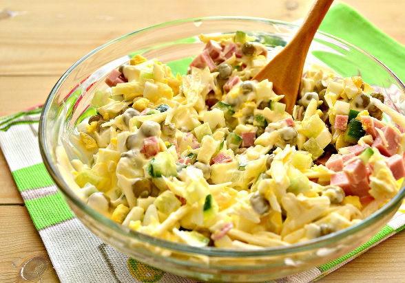 Салат нежность с плавленым сыром