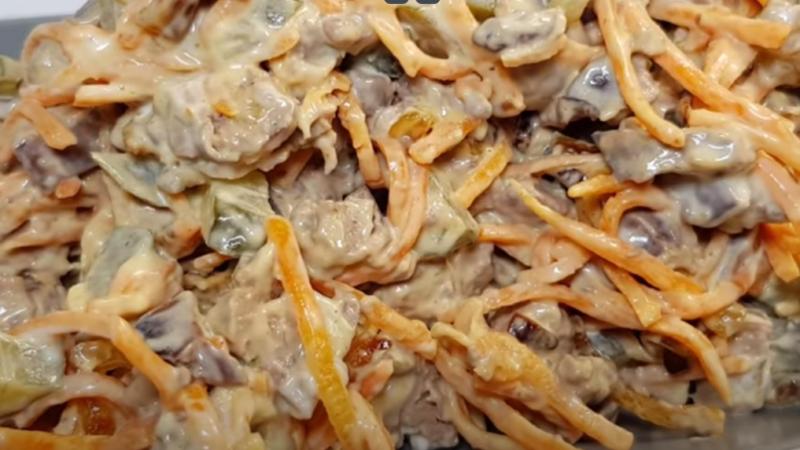 Очень ВКУСНЫЙ салат НА ПРАЗДНИК из 4-ёх  ингредиентов